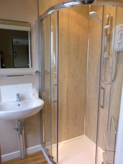 Shower room upstairs, renovated December 2014