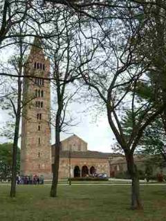 Just near Ferrara hystorical Pomposa Abbey