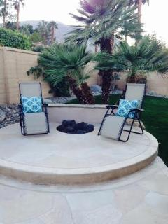 Fire pit and longing area.