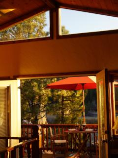 Open the back patio french doors for a cool breeze.