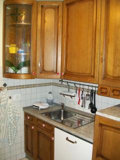 kitchen - cucina accessoriata, lavastoviglie, frigorifero, microonde, piano cottura