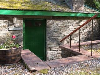 Stone steps leading down to the Dairy