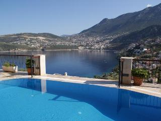 Stunning views from the infinity pool. The only heated pool we know of in Kalkan!