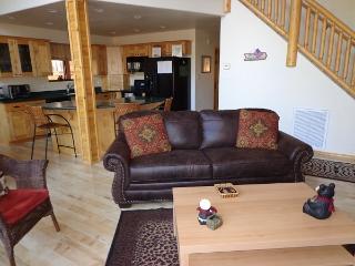 Living room has a sleeper sofa