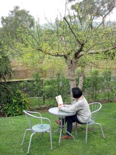 Sit in the garden or perhaps on the layback lounge, reading a great book.