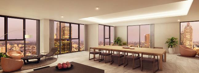 Level 55 private dining area exclusive use for top floor apartments only (incl. this one)