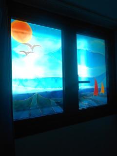 Particolare vetri artistici.