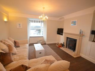 Lounge area with wood burner for additional heating if required.