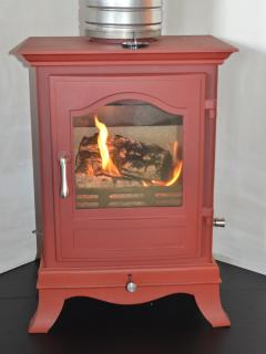wood burning stove, easy to light and we can give you a demo