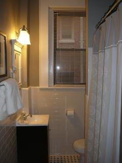 Bathroom with tube/shower combo