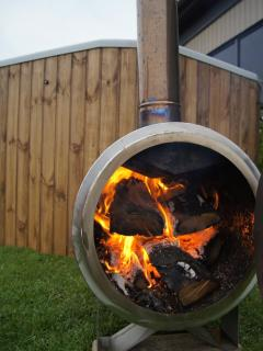 Wood fired hot tub -