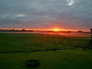 Good Morning Sunrise Over Baddiley Hall.