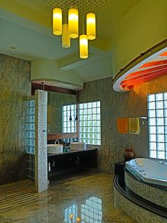 Another view of the master bathroom with SPA