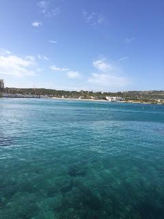 The clear blue waters in less than 100 meters away from apartment, grab a towel and go for a dip!
