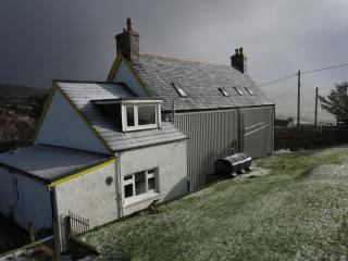 Snow storm brewing over Stoer Villa