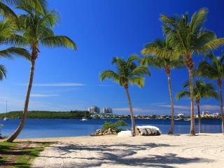 Holidays under the Caribbean sun, white sand beach