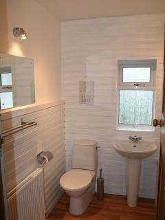 Bathroom, with bath and overhead shower