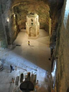 The impressive underground church in Aubeterre