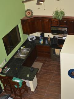 View of kitchen from 2nd floor at villa
