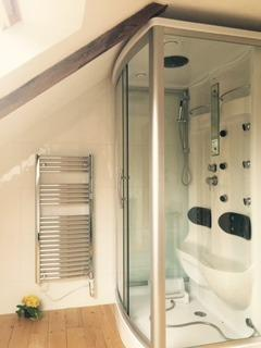 Power Shower .seated or standing .. 2 large bathrooms ,, glass washbasins ,immaculate