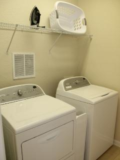 Laundry room so you can pack light!