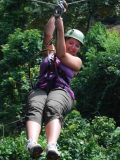 On-site zipline canopy tour