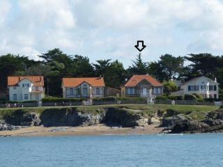 Belle Villa 1900. 6 b. 9P. Vue sur l'océan., Prefailles