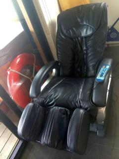 Relax in the proffessional massage chair as you gaze out upon the calming sea