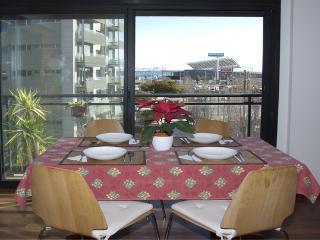 Modern beach apartment, garage, wifi, see view, Barcelona