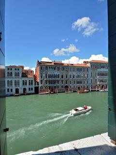 the view from the bedroom is truly Venetian