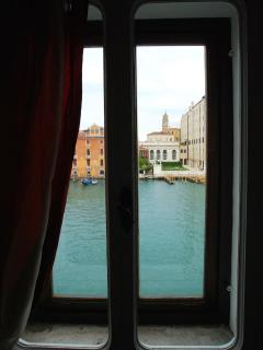 through the windows you can see the Grand Canal