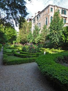 another view of the elegant Italian Style private garden