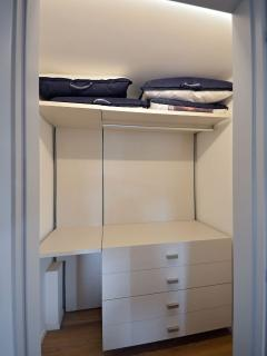 walk-in wardrobe of the double bedroom