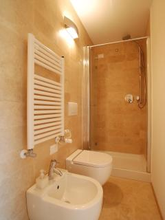 the bathroom is also of high standard with a large shower box