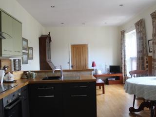 Kitchen through to lounge area.