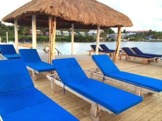 Dock and Palapa with loungers