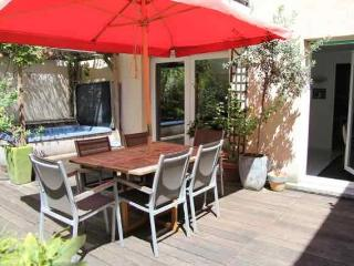 terrace with dining table
