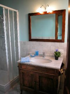 Blue room ensuite bathroom