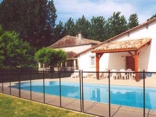 Spacious stone farmhouse with pool, private 9 acre, Duras