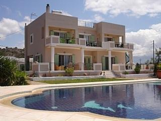 Amazing Villa big private  pool & seaview, 5 bedrooms,Wifi,BBQ,in Stavros