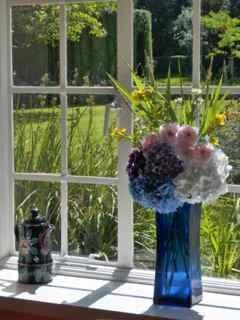 Guests are usually welcomed with flowers from the garden
