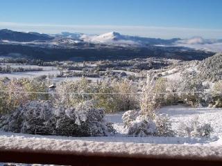 vue du chalet l'hiver