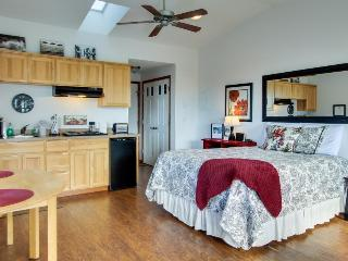Beachy studio w/ full kitchen and ocean views! Dogs are welcome!