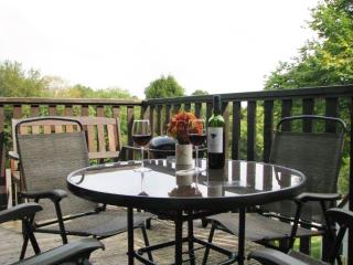 """Alpine Valley Lodge"" - Stunning Tamar Valley retreat w/ views of a beautiful wooded Cornish valley, Gunnislake"