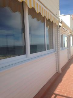 Large double glazed windows for panoramic views of the Med
