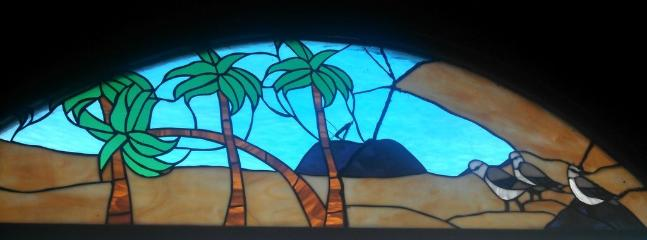 Stained glass windows throughout the house
