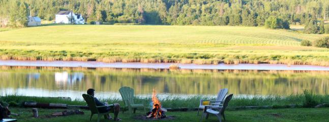 Bonfire on the West River