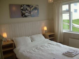 DOUBLE BEDROOM  --   STUNNING SEA VIEWS,     AND VIEWS OVER THE  POOL AND GARDENS