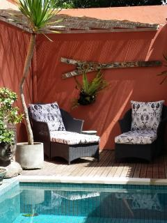 Lovely shaded corner near the pool - Relax with a book or a beer.