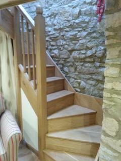 Locally made oak staircase